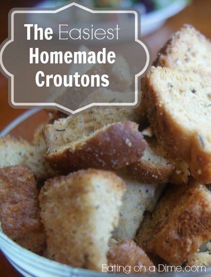 How to make the BEST Homemade croutons in under 20 minutes. Great to ...