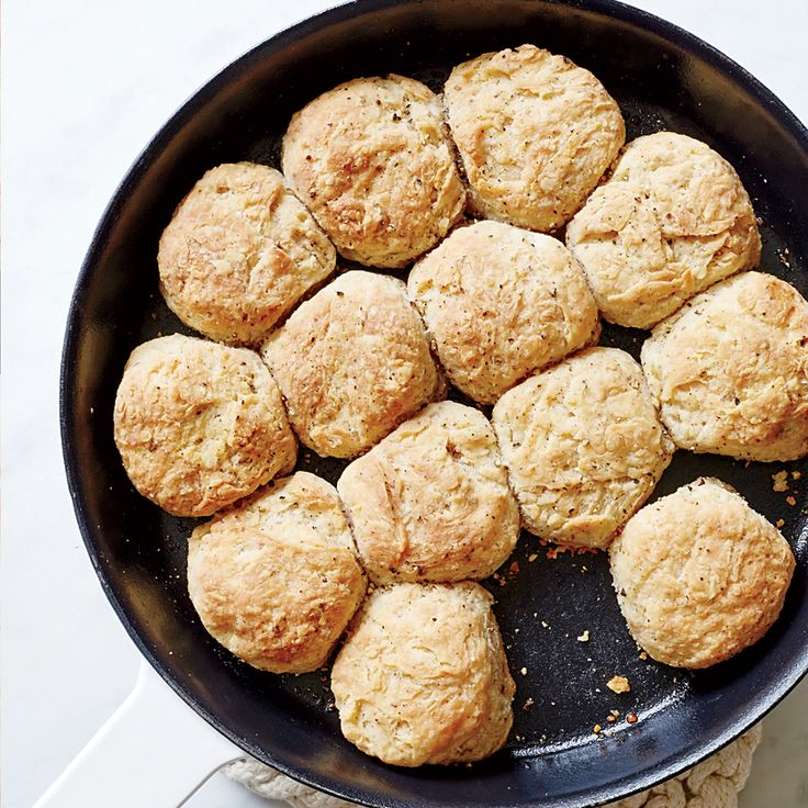 Pull-Apart Salt-and-Pepper Biscuits | Food & Wine