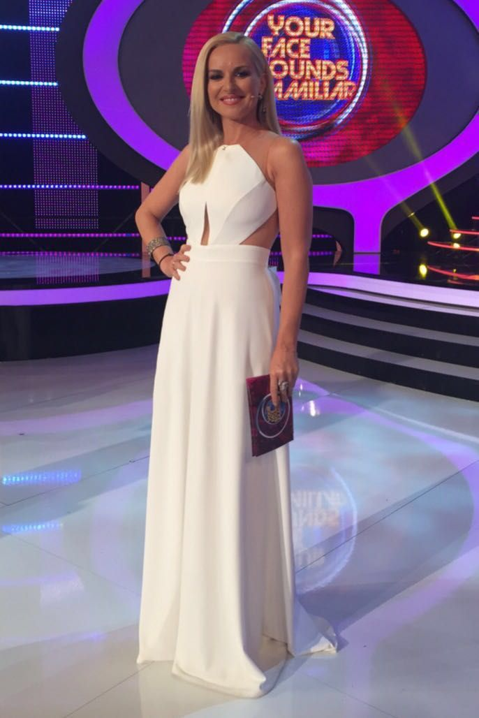 TV star Maria Bekatorou styled in Danelian Diamond pieces for her Your Face Sounds Familiar show.