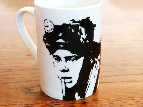 Dan Aykroyd, Ghostbusters, ray stanz, hand printed, hand painted, cup by bycandlelight27
