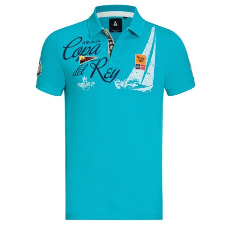 Gaastra Polo Shirt Royal Cup Heren Turquoise