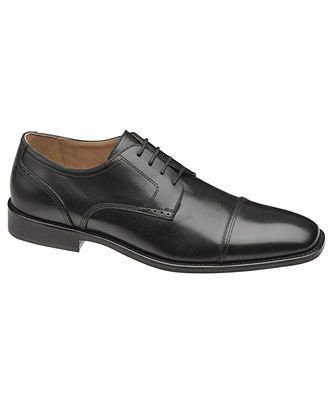 3/22 NEW. DO NOT, DO NOT GO SHINE ON THE OXFORDS. LOOKING FOR DULL BLACK Johnston & Murphy Knowland Cap Toe Lace-Up Shoes - Shoes - Men - Macy's
