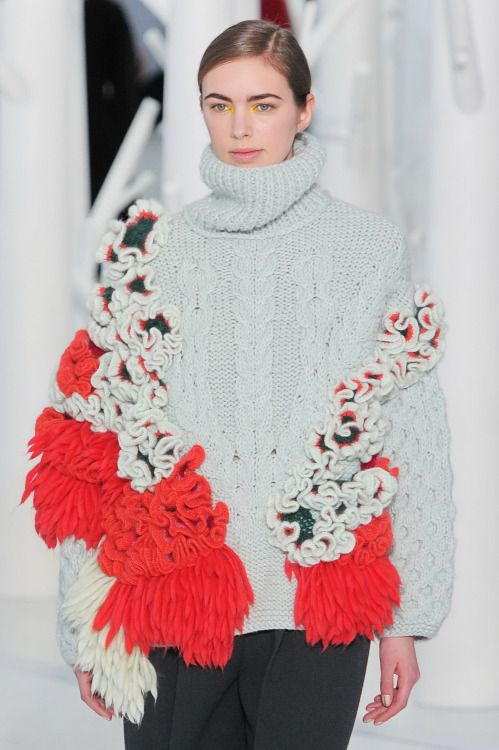 Perhaps a little extreme, but this #NYFW #AW15 look proves the chunky knit is back this year!