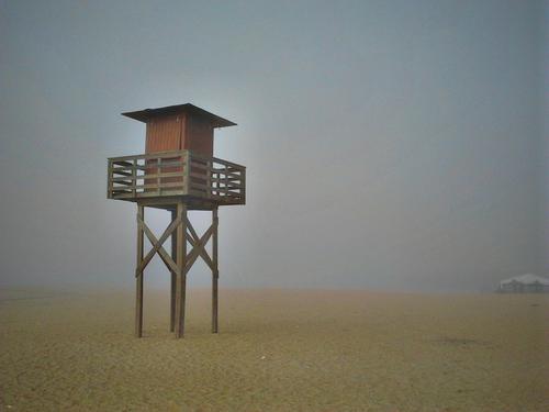 ... y tras la niebla... la playa. Nuevo Portil, Huelva.