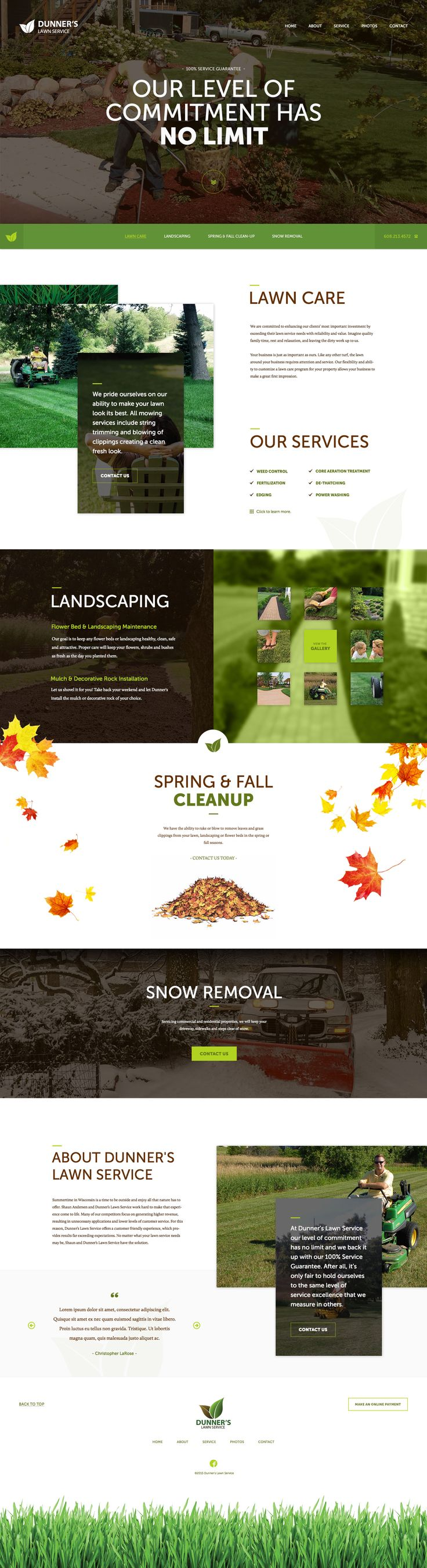Lawn Care Wordpress Website by Christopher LaRose