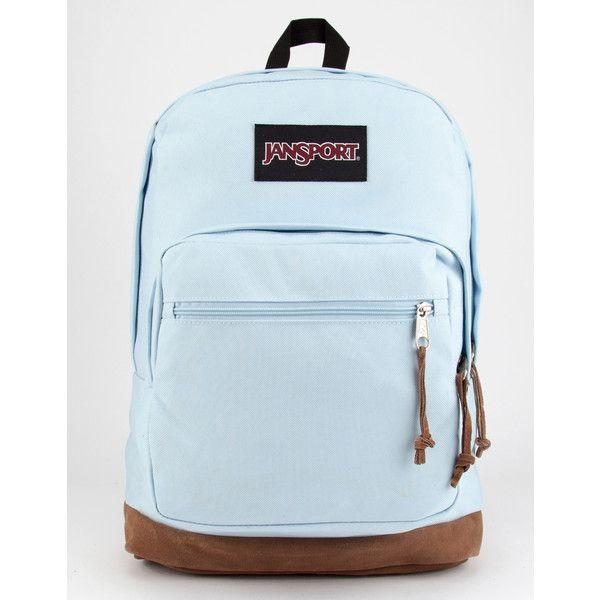 Jansport Right Pack Backpack (505 SEK) ❤ liked on Polyvore featuring bags, backpacks, day pack backpack, jansport backpack, zipper bag, padded laptop backpack and laptop backpack