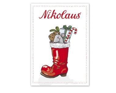 Postkarte - Nikolaus DIN A6 - Kirma & Isa