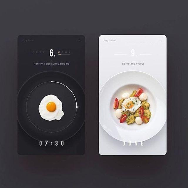 "734 Me gusta, 6 comentarios - UI/ UX DESIGN INSPIRATION (@uidesignpatterns) en Instagram: ""Food app by @finalv1"""