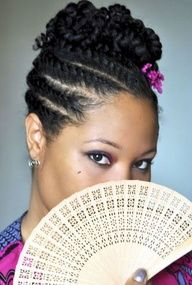 two strand twist natural hairstyles | Two strand flat twist updo-natural hair styles for black women - Bing ...