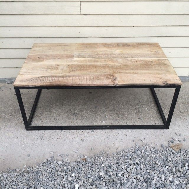 Iron and Wood Coffee Table - Nadeau New Orleans