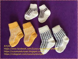 ZUZUMUN DÜNYASI: Bebişimizin Çorapları