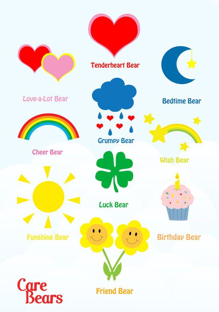 Care Bears Original 10 by jenhamlin.deviantart.com on @DeviantArt