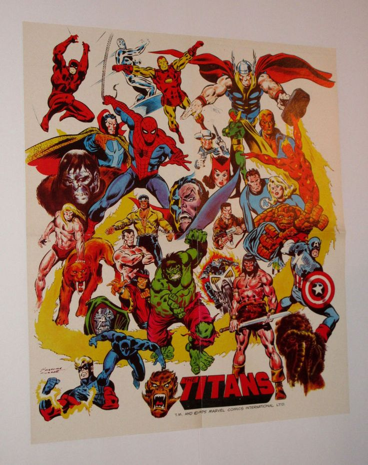 3206 Best Marvel Dc Comic Posters Rare Vintage Original