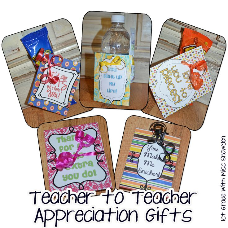 teacher to teacher gifts...For little pick-me-ups when we need them!