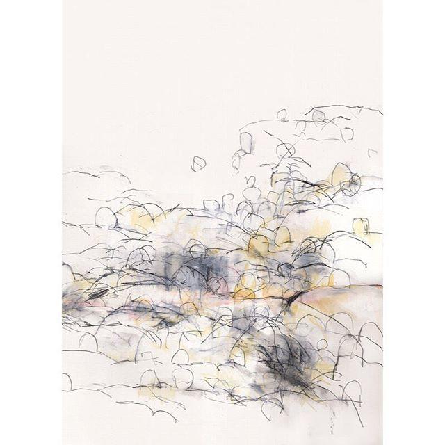 040123-1 2004 545x398mm pencil, oil pastel, acrylic paint on paper. Private collection  small size drawing : @ko_ushijima_drawings  #japaneseart #artist #artwork #asianart #contemporarydrawing #modernart #contemporaryart #ratedmodernart #simple #visualart #fineart #void #stillness #mnmlko_ushijima