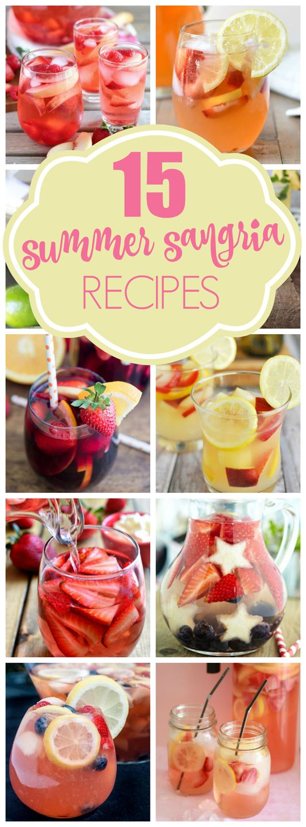 15 Sweet Summer Sangria Recipes - Pretty My Party #alcohol #bbq #drinks