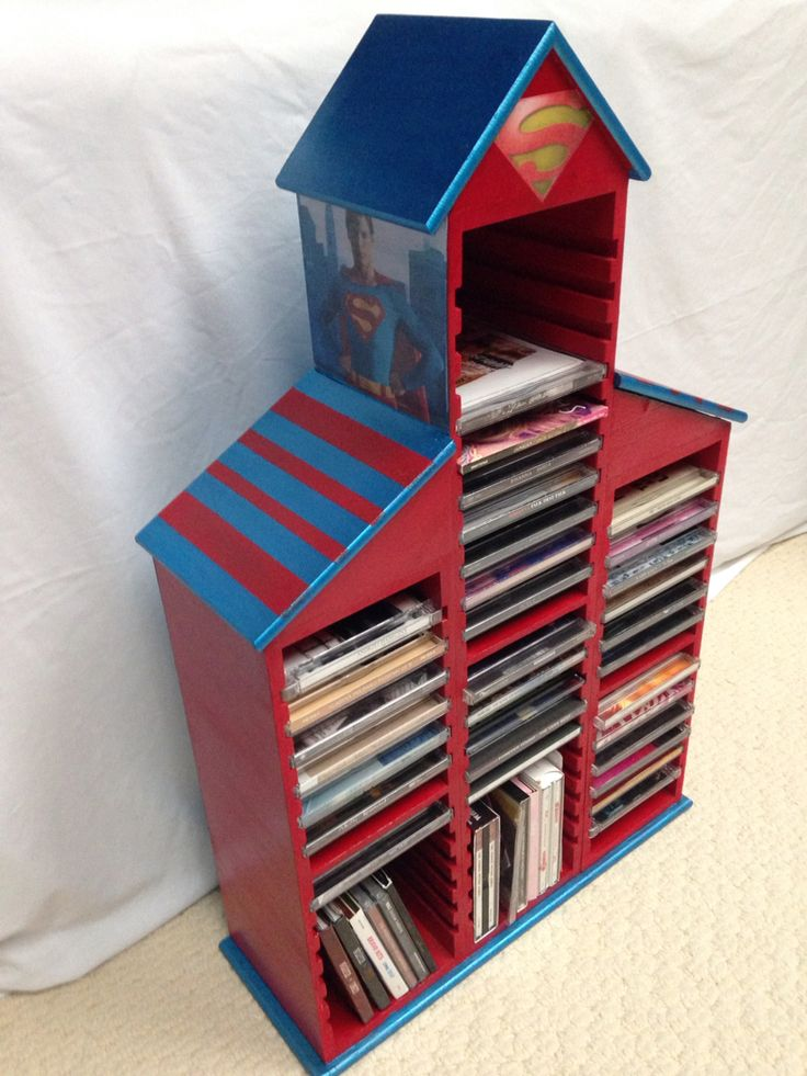Hand made woodden CD stand.