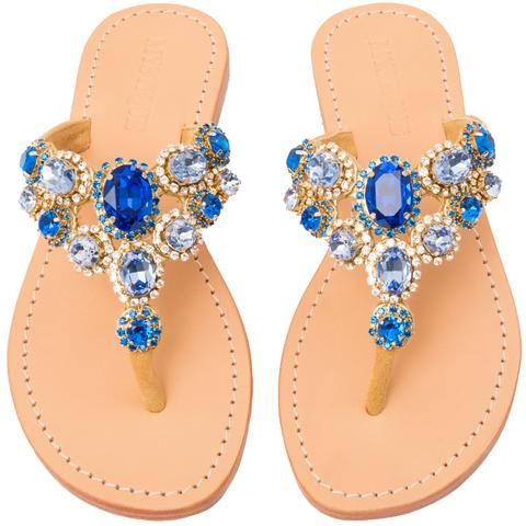 Mystique Women's Leather Jeweled Sandals - Puerto Limon – Mystique Sandals