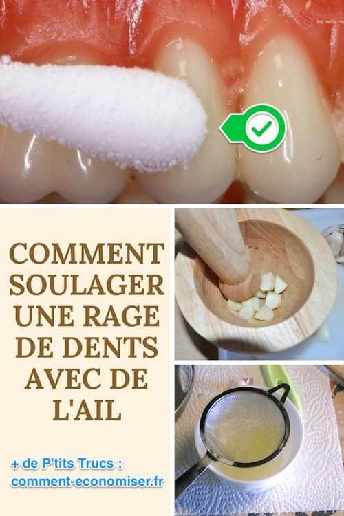 Le Remède Pour Soulager Rapidement une Rage de Dents Avec de l'Ail.