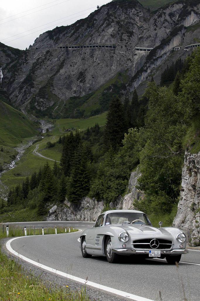 300SL in its natural habitat.: Sports Cars, Mercedesbenz 300Sl, Austria Bi, Classic Cars, Mercedesbenz Roadster, Merc Benz 300Sl, Mercedes Benz 300Sl, Cars Rally, Dreams Cars