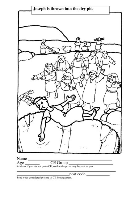 bible coloring pages of joesph - photo#41