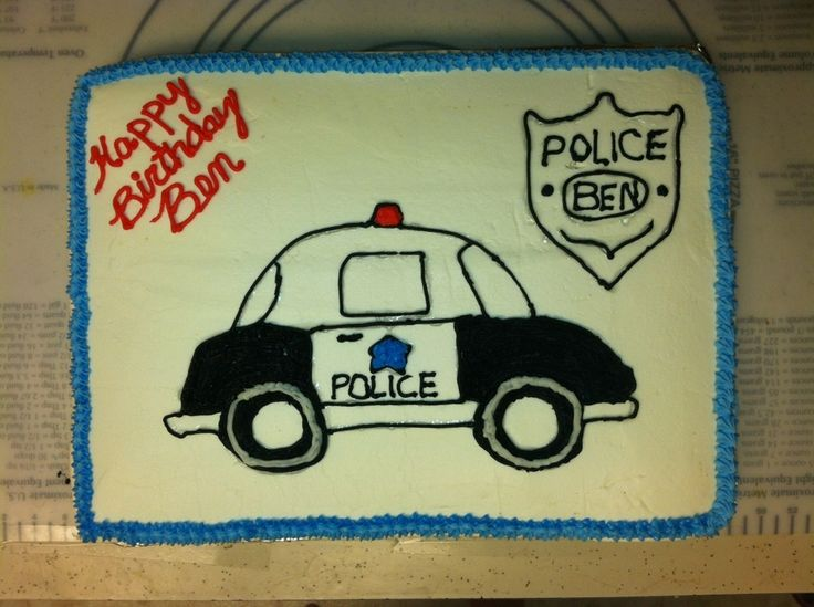 police car cakes pictures | Police theme cake — Children's Birthday Cakes