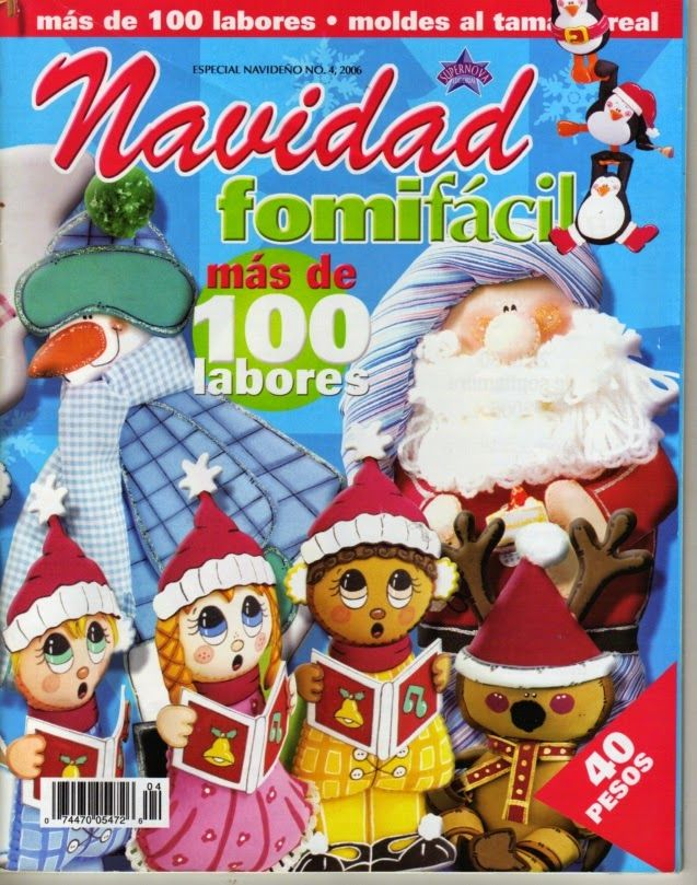 Revista navideña en foami