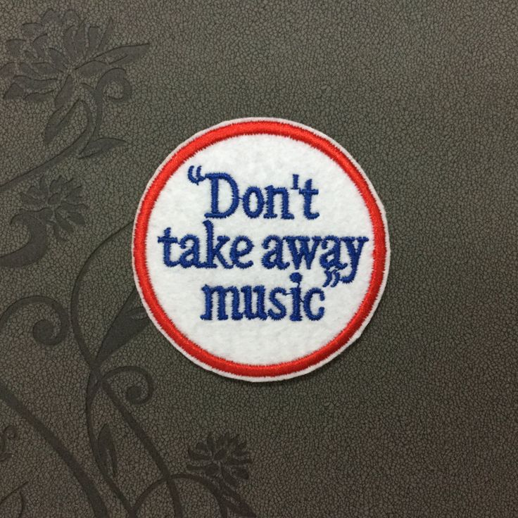 Dont Take Away Music Note Rock Patches Iron On Monogram Punk