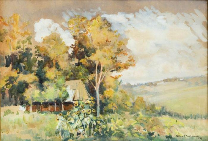 Stefan Filipkiewicz - Pejzaż letni, 1927 r.