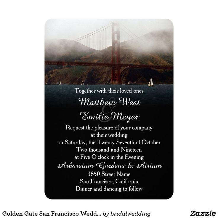 Golden Gate San Francisco Wedding Invitation 825