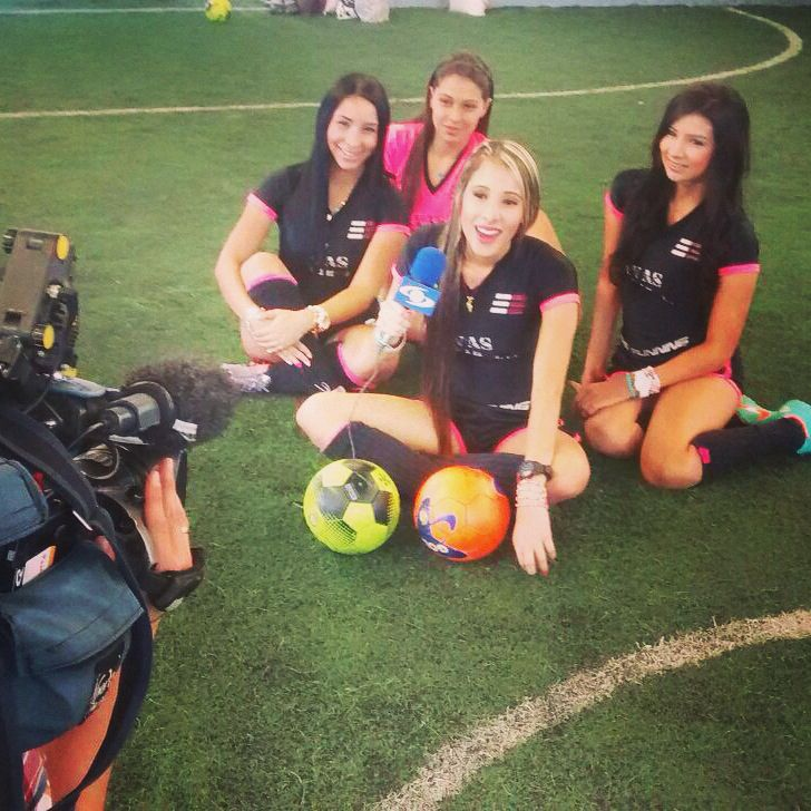 Divas the soccer in Caracol tv❤️