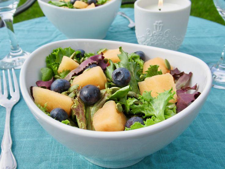 September Salad with Blueberry Vinaigrette!