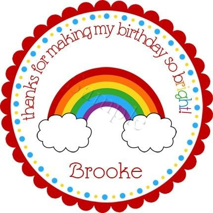 Rainbow party stickers