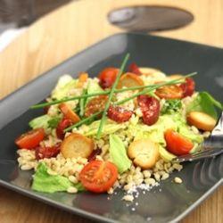 Salade de blé, chorizo et comté