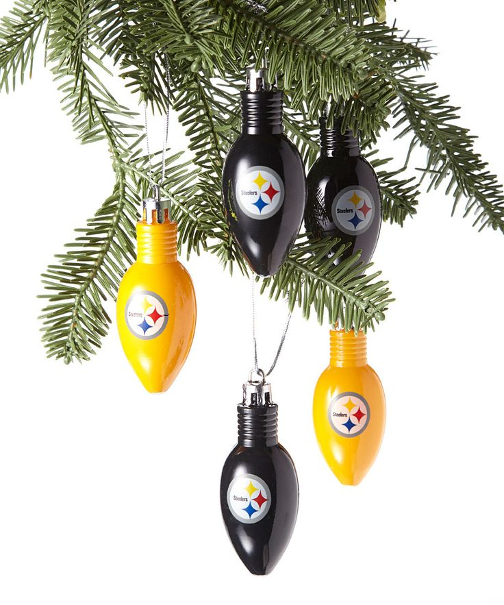 Take a look at this Black & Gold Pittsburgh Steelers Bulb Ornament Set on zulily today!