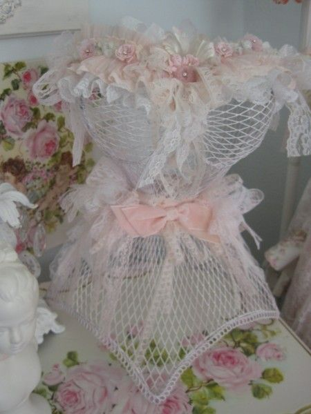 Pink Lace Metal Corset