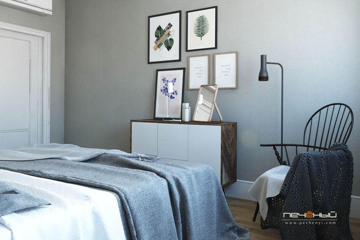 Скандинавская квартира спальня