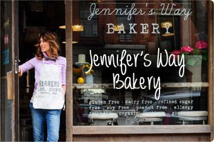 Jennifer's Way Bakery - I saw her on Katie on afternoon & was so impressed with her. She's actually an actress but opened her first bakery w/her then boyfriend's financial help in NYC. I'd LOVE to try everything out of there! In wanting to move more towards gluten free & of course more natural recipes she inspired me.