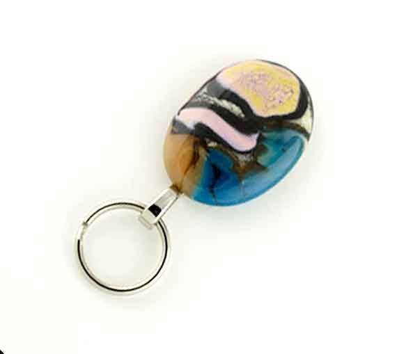 Decorative Magnetic ID Holder / Magnetic Eyeglass Holder, colorfull lampwork glass, lanyard, Nurses ID Holder - pinned by pin4etsy.com