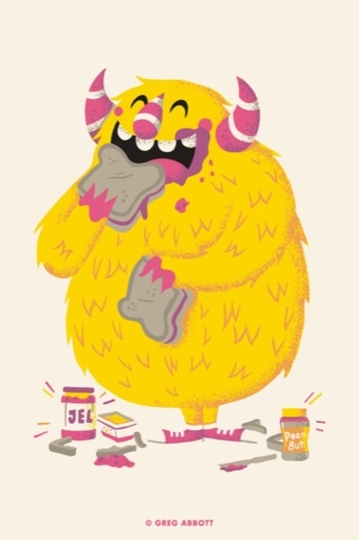 Happy Monster Illustration 184 best Monster Illus...