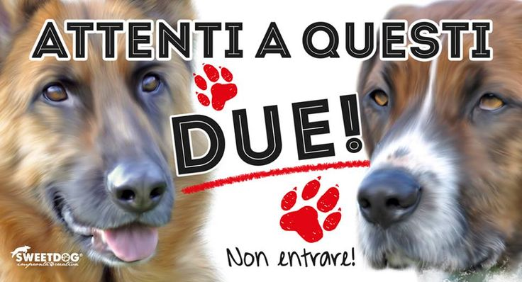 "Personalized Beware of the dog sign | ""Attenti al Cane personalizzato"" 