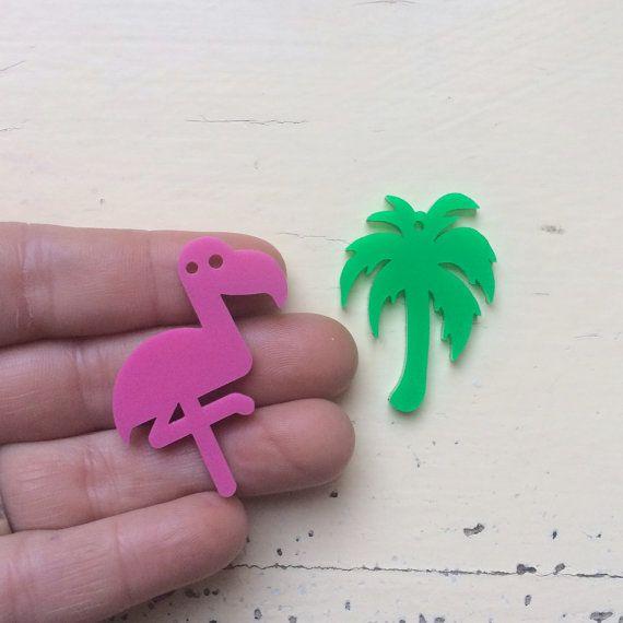 Miami Dreams Dangle Combo Laser Cut Acrylic by CraftyCutsLaser