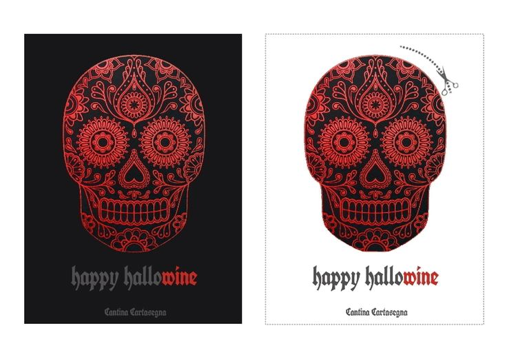 Halloween: etichette scaricabili e stampabili per bottiglie di vino. Scarica il pdf dal sito. Halloween wine label. Download pdf from website.