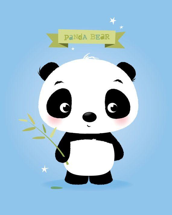 Animal arte grabado ilustración de Panda para por IreneGoughPrints