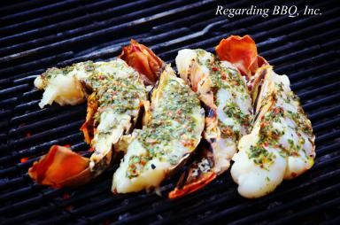 Basil Butter Smothered Lobster Tails Recipe