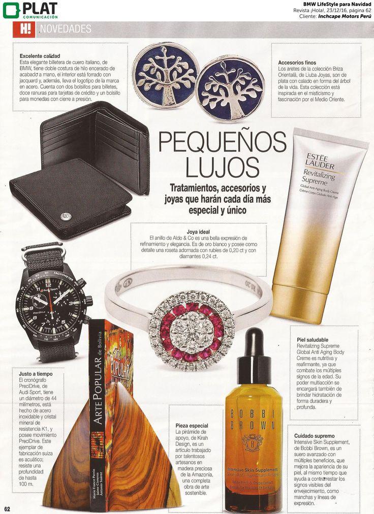 Inchcape Motors: BMW LifeStye en especial de navidad en la revista ¡Hola! de Perú (23/12/16)