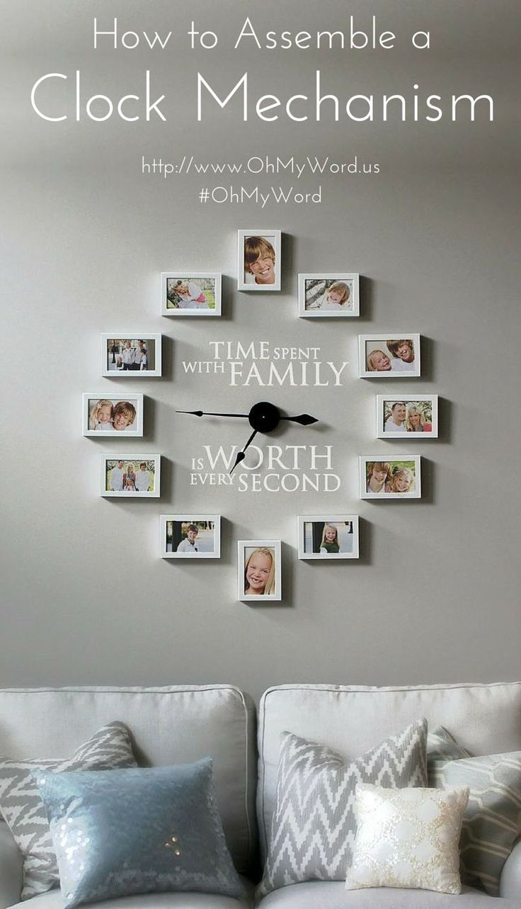 13 best photo wall clocks images on pinterest photo wall clocks how to assemble a clock mechanism picture frame clockwall jeuxipadfo Images