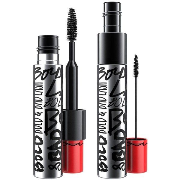 MAC Bold & Bad Lash Mascara ($26) ❤ liked on Polyvore featuring beauty products, makeup, eye makeup, mascara, beauty, mac cosmetics and smudge proof mascara