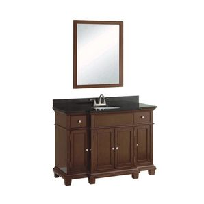 home hardware x mocha vanity with granite top and mirror