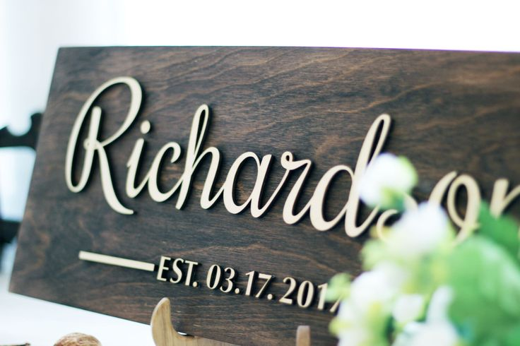 Best Last Minute Wedding Gifts: Best 20+ Family Name Signs Ideas On Pinterest